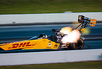 Sep 5, 2020; Clermont, Indiana, United States; NHRA top fuel driver Shawn Langdon during qualifying for the US Nationals at Lucas Oil Raceway. Mandatory Credit: Mark J. Rebilas-USA TODAY Sports
