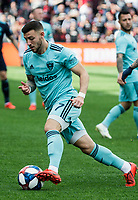 Washington, DC - Sunday, April 21, 2019: NYCFC defeated DC United 2-0 in a MLS match at Audi Field.