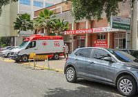 Teresina - PI, 06/04/2021 - Hospitais de Teresina/PI apresentam ocupação de dos leitos destinados à pacientes com Covid-19. O Hospital Getúlio Vargas (público) possui a maior estrutura do estado para o atendimento à pacientes com o novo coronavírus, no mês de março o hospital apresentou  uma elevação de 200% do número de pacientes internados em relação ao mês anterior. O nível de ocupação dos leitos de UTI está em 95% no Piauí.