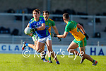 David Clifford, Kerry in action against Ethan O'Donnell, Donegal uring the Allianz Football League Division 1 Round 7 match between Kerry and Donegal at Austin Stack Park in Tralee on Saturday.