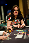 Pokerstars Team Pro Liv Boeree is all in.  She is all smiles after doubling up.