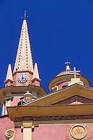 Europe/France/Corse/2B/Haute-Corse/Balagne/Calvi: L'église Sainte-Marie Majeure - Détail de la façade