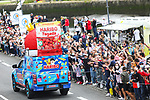The publicity caravan before Stage 1 of the 2021 Tour de France, running 197.8km from Brest to Landerneau, France. 26th June 2021.  <br /> Picture: A.S.O./Aurelien Vialatte | Cyclefile<br /> <br /> All photos usage must carry mandatory copyright credit (© Cyclefile | A.S.O./Aurelien Vialatte)