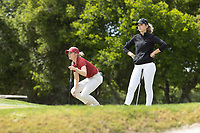 STANFORD, CA - APRIL 24: Amelia Garvey, Rachel Heck at Stanford Golf Course on April 24, 2021 in Stanford, California.