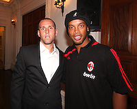Kurt Mosink of DC United with Ronaldinho of AC Milan at a reception for AC Milan at DAR Constitution Hall in Washington DC on May 24 2010.