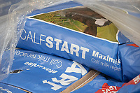 24-2-2021 Bags of calf start milk powder  <br /> ©Tim Scrivener Photographer 07850 303986<br />      ....Covering Agriculture In The UK....