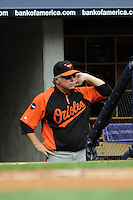 Baltimore Orioles manager Buck Showalter #26 during game against the New York Yankees at Yankee Stadium on September 5, 2011 in Bronx, NY.  Yankees defeated Orioles 11-10.  Tomasso DeRosa/Four Seam Images