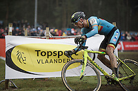 Sven Nys (BEL/Crelan-AAdrinks) is riding an impressive very last Worlds (& will finish 4th at 39 yrs old)<br /> <br /> Men's Elite Race<br /> <br /> UCI 2016 cyclocross World Championships,<br /> Zolder, Belgium