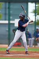 Cleveland Indians Gabriel Mejia (1) during an instructional league game against the Los Angeles Dodgers on October 15, 2015 at the Goodyear Ballpark Complex in Goodyear, Arizona.  (Mike Janes/Four Seam Images)