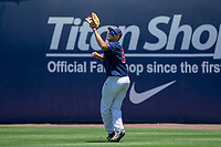 Cal State Fullerton Titans Ruben Cardenas (5) tracks the ball during the game against the University of Washington Huskies at Goodwin Field on June 08, 2018 in Fullerton, California. The University of Washington Huskies defeated the Cal State Fullerton Titans 8-5. (Donn Parris/Four Seam Images)