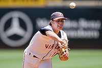 Relief pitcher Tyler Wilson #18 of the Virginia Cavaliers in action against the Boston College Eagles at the 2010 ACC Baseball Tournament at NewBridge Bank Park May 26, 2010, in Greensboro, North Carolina.  The Cavaliers defeated the Eagles 6-4.  Photo by Brian Westerholt / Four Seam Images