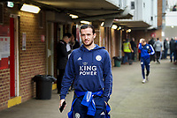 Ben Chilwell of Leicester City arriving pre match during the FA Cup 4th round match between Brentford and Leicester City at Griffin Park, London, England on 25 January 2020. Photo by Andy Aleks.