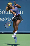Serena Williams (USA) battles Samantha Stosur (AUS)  at the Western & Southern Open in Mason, OH on August 13, 2014.