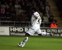 Pictured: Jason Scotland of Swansea City scores his sides penalty <br /> Picture by D Legakis / Athena Picture Agency, Swansea, 07815441513