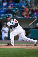 Rochester Red Wings designated hitter Josmil Pinto (39) at bat during a game against the Toledo Mudhens on May 12, 2015 at Frontier Field in Rochester, New York.  Toledo defeated Rochester 8-0.  (Mike Janes/Four Seam Images)