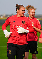 20200911 - TUBIZE , Belgium : Goalkeeper Justien Odeurs during a training session of the Belgian Women's National Team, Red Flames , on the 11th of September 2020 in Tubize. PHOTO SEVIL OKTEM   SPORTPIX.BE