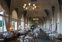"""Europe/France/Rhône-Alpes/74/Haute Savoie/ Evian: Salle  du restaurant """"Les Fresques Royales"""", au Royal Hôtel"""