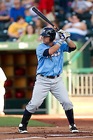 John Whittleman (30) of the Northwest Arkansas Naturals at bat during a game against the Springfield Cardinals at Hammons Field on June 14, 2012 in Springfield, Missouri. (David Welker/Four Seam Images)