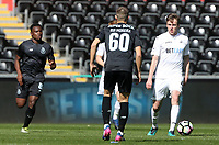 SWANSEA, WALES - MARCH 25:Ryan Blair of Swansea City is challenged by Rui Moreira of Porto during the Premier League International Cup Semi Final match between Swansea City and Porto at The Liberty Stadium on March 25, 2017 in Swansea, Wales. (Photo by Athena Pictures)