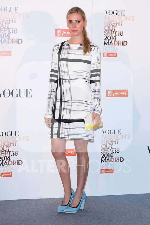 """Lulu Figueroa attends the """"VOGUE FASHION NIGHT OUT"""" Photocall at Jose Ortega y Gaset street in Madrid, Spain. September 18, 2014. (ALTERPHOTOS/Carlos Dafonte)"""