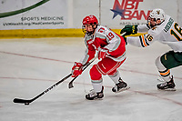 29 December 2018: Rensselaer Engineer Forward Ture Linden, a Freshman from Great Falls, VA, in third period action against the University of Vermont Catamounts at Gutterson Fieldhouse in Burlington, Vermont. The Catamounts rallied from a 2-0 deficit to defeat RPI 4-2 and win the annual Catamount Cup Tournament. Mandatory Credit: Ed Wolfstein Photo *** RAW (NEF) Image File Available ***