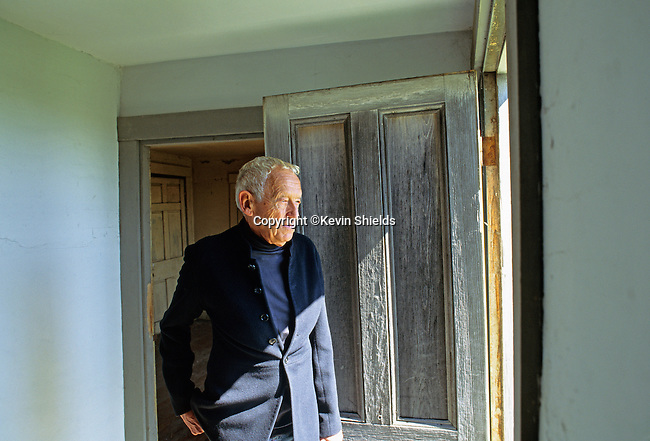 Portrait of the American painter Andrew Wyeth taken at the Olson House in Cushing, Maine, USA in 1991.