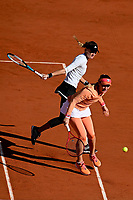 11th October 2020, Roland Garros, Paris, France; French Open tennis, Womens Doubles final 2020; Timea BabHun and Kristina Mladenovic Fra