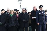 The Members of the Knesset entering KL Auchwitz Birkenau , Sofa Landver , Israeli Minister