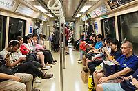 Singapore, MRT Mass Rapid Transit, Passengers in Transit.