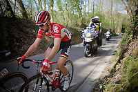 Thomas De Gendt (BEL/Lotto-Soudal) up the Haagaard climb<br /> <br /> 55th Brabantse Pijl 2015