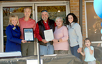 The Siloam Springs Museum received a proclamation from the Arkansas House of Representatives and the city of Siloam Springs. State Representative Robin Lundstrum (R-87), David Allen, Mayor John Mark Turner, Katie Rennard, Laura Glenda, Naomi Klenda