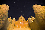 The Great Mosque of Djenné is the largest mud brick or adobe building in the world, and is one of the most famous landmarks in Africa.