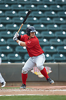 Nick Sciortino (26) of the Salem Red Sox at bat against the Winston-Salem Dash at BB&T Ballpark on April 22, 2018 in Winston-Salem, North Carolina.  The Red Sox defeated the Dash 6-4 in 10 innings.  (Brian Westerholt/Four Seam Images)