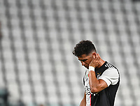 Calcio, Serie A: Juventus - Lazio, Allianz Stadium, July 20, 2020.<br /> Juventus' Cristiano Ronaldo reacts during the Italian Serie A football match between Juventus and Lazio at the Allianz stadium in Turin, July 20, 2020.<br /> UPDATE IMAGES PRESS/Isabella Bonotto