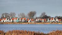 Nederland  Durgerdam - 09-01- 2021.    Lintdorp Durgerdam. Er zijn plannen voor grote wndmolens in het water tussen Durgerdam en IJburg.   Foto : ANP/ HH / Berlinda van Dam