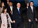 U.S. Vice President Mike Pence arrives in Japan