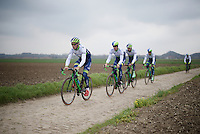 Team Orica-GreenEDGE on their last recon of the 114th Paris - Roubaix 2016