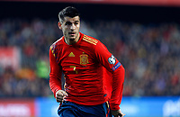 Spain's Alvaro Morata during the Qualifiers - Group F to Euro 2020 football match between Spain and Norway on 23th March, 2019 in Valencia, Spain. (ALTERPHOTOS/Manu R.B.)<br /> Valencia 23-03-2019 <br /> Football Qualifying match Euro2020<br /> Spain Vs Norway <br /> foto Alterphotos/Insidefoto <br /> ITALY ONLY