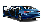Car images close up view of a 2019 Volkswagen Jetta SEL Premium 4 Door Sedan doors
