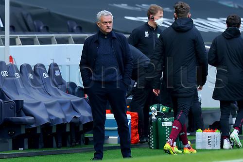 28th February 2021; Tottenham Hotspur Stadium, London, England; English Premier League Football, Tottenham Hotspur versus Burnley; Tottenham Hotspur Manager Jose Mourinho