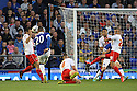 Ross Barkley of Everton shoots wide<br />  - Everton v Stevenage - Capital One Cup Second Round - Goodison Park, Liverpool - 28th August, 2013<br />  © Kevin Coleman 2013