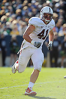 South Bend, IN - OCTOBER 4:  Defensive end Tom McAndrew #41 of the Stanford Cardinal during Stanford's 28-21 loss against the Notre Dame Fighting Irish on October 4, 2008 at Notre Dame Stadium in South Bend, Indiana.