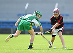 Eoin Whelan of Mountshannon/Lackyle  in action against Rian Cummins of Kilnamona during their Schools Division 3 final at Cusack Park. Photograph by John Kelly
