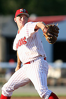 June 21st, 2007:  Josh Wilson of the Batavia Muckdogs, Short-Season Class-A affiliate of the St. Louis Cardinals at Dwyer Stadium in Batavia, NY.  Photo by:  Mike Janes/Four Seam Images