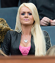 :: RANGERS' ALLAN MCGREGOR'S GIRLFRIEND LEAH SHEVLIN WATCHES FROM THE STAND ::