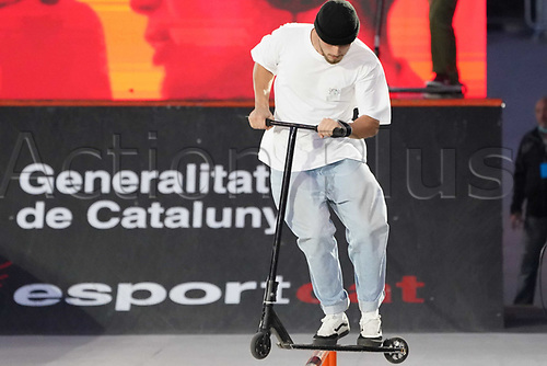 8th November 2020; Parc del Forum, Barcelona, Catalonia, Spain; Imagin Extreme Barcelona;  Bartlomiej Linstedt (POL) during Scooter mens street semifinal