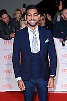 Amir Khan<br /> arriving for the National Television Awards 2018 at the O2 Arena, Greenwich, London<br /> <br /> <br /> ©Ash Knotek  D3371  23/01/2018