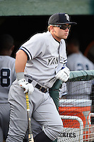 Tampa Yankees designated hitter Dante Bichette Jr. (25) before a game against the Lakeland Flying Tigers on April 3, 2014 at Joker Marchant Stadium in Lakeland, Florida.  Tampa defeated Lakeland 4-0.  (Mike Janes/Four Seam Images)