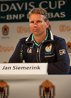 September 02, 2014,Netherlands, Amsterdam, Ziggo Dome, Press Conference Davis Cup, Jan Siemerink<br /> Photo: Tennisimages/Henk Koster