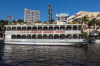 Ft. Lauderdale, Florida.  Jungle Queen, a Pleasure Boat for Tourists on New River and the Intracoastal waterway.